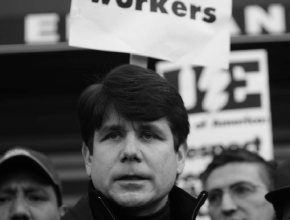 Blagojevich at strikes