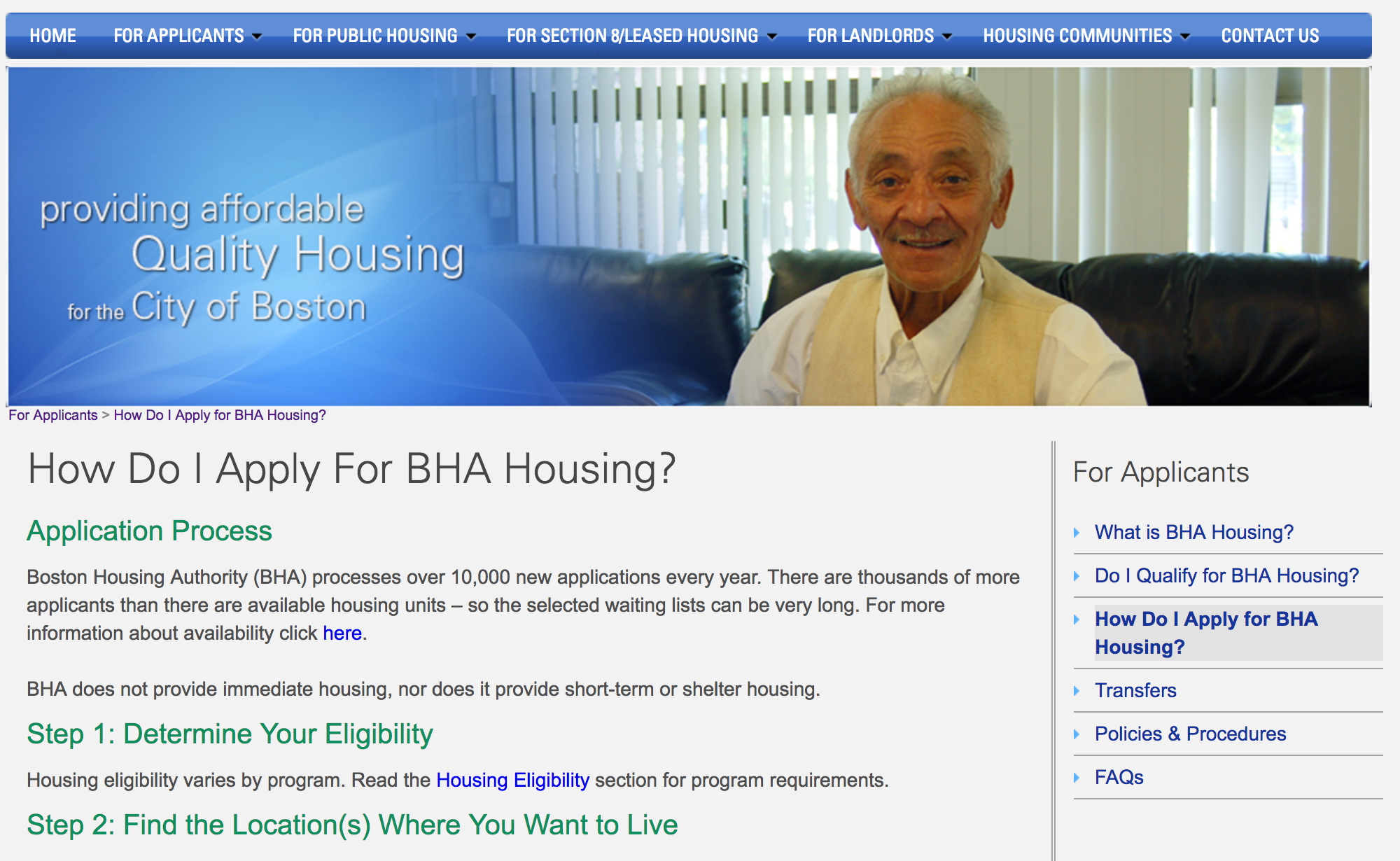 Boston Housing Authority – Application Process Redesign